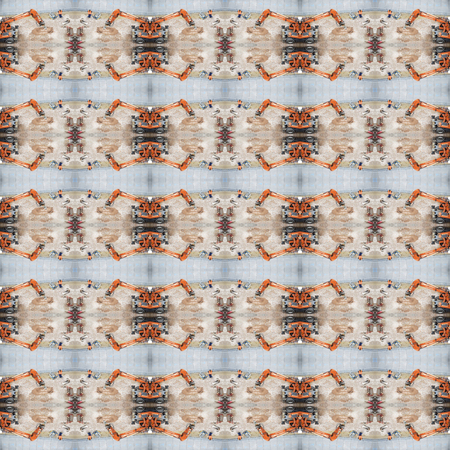 Seamless construction work pattern. For eg fabric, wallpaper, wall decorations.