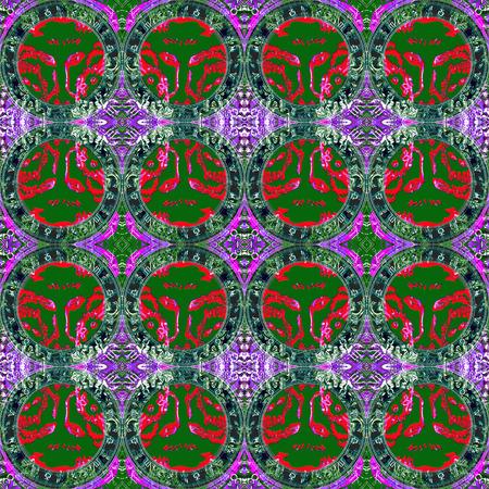capricornus: Seamless pattern zodiac Taurus. For eg fabric, wallpaper, wall decorations. Stock Photo