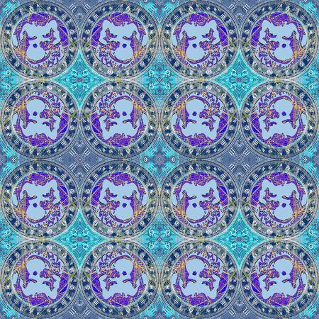 capricornus: Seamless pattern zodiac Aquarius. For eg fabric, wallpaper, wall decorations.