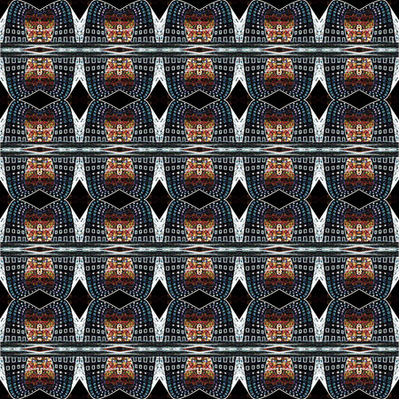 seamlessly: Seamless urban light pattern. For eg fabric, wallpaper, wall decorations. Stock Photo