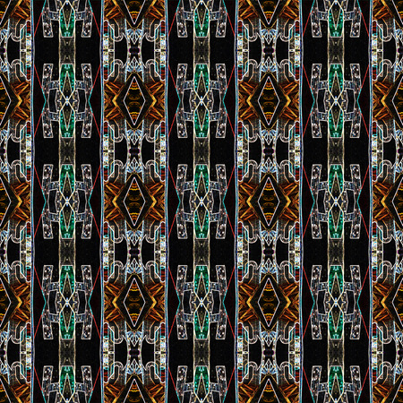 Seamless urban light pattern. For eg fabric, wallpaper, wall decorations. Stock Photo