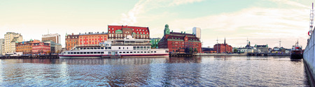 Malmo city urban landscape, Sweden, Panorama.