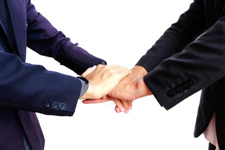 Businessman handshake isolated on white background