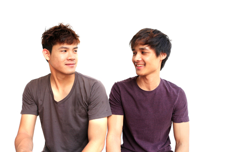 Two handsome man of asia man