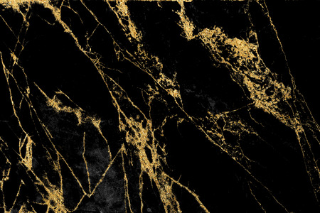 Design con texture in marmo nero e oro per copertine di libri o brochure, poster, sfondi per carta da parati o opere d'arte realistiche e di design.
