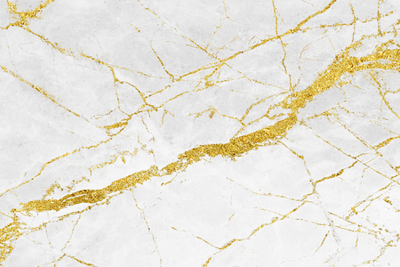 White gold marble texture pattern background with high resolution design for cover book or brochure, poster, wallpaper background or realistic business Imagens