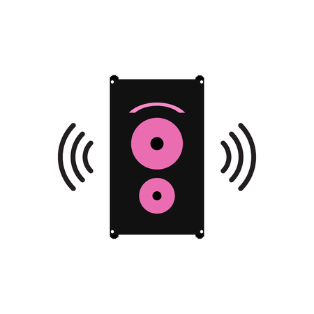 Speakers a sound box, vector. Illustration