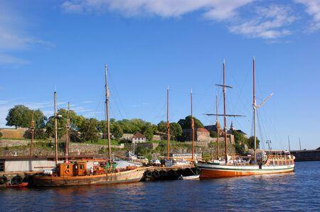 Olso harbour Stock Photo