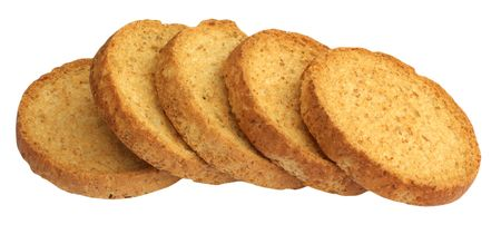 Rusk, isolated on background