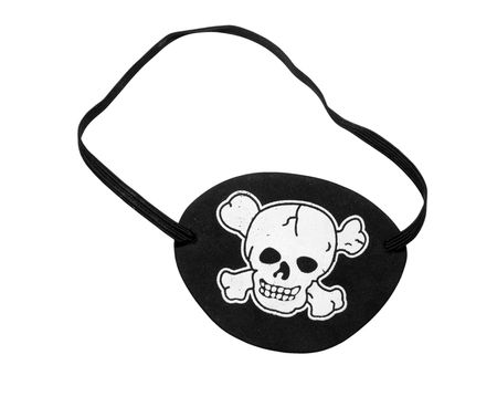 Pirate eyepatch, isolated on background Stock Photo