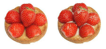 Dutch tradition, rusk with strawberry. With or without suger whatever you like Stock Photo - 6944974