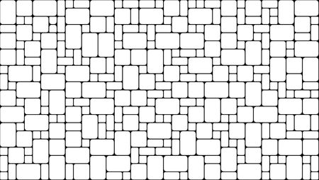 black and white, rounded square pattern Stock Photo - 7707689