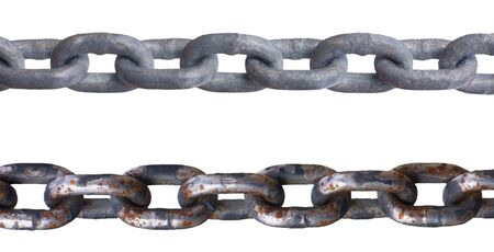 Two metal chains, isolated against background Stock Photo