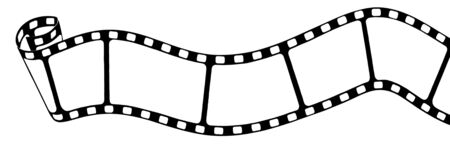 dessin noir blanc: Noir blanc, dessin de film analogique