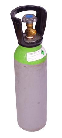 Argon welding gas cylinder, isolated on background