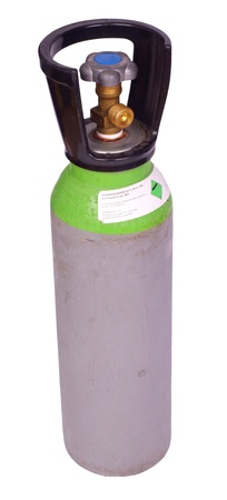 Argon welding gas cylinder, isolated on background