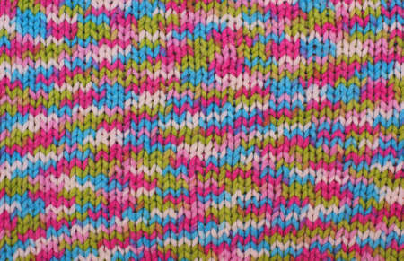 Knitted pattern background with bright colours