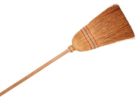 Broom, isolated on background Stock Photo