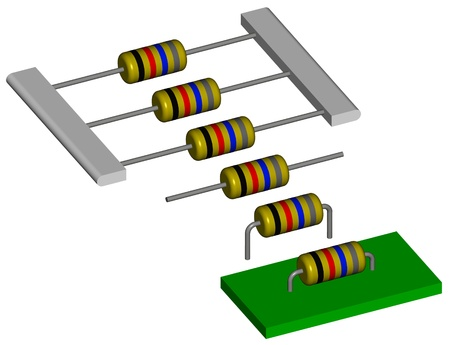 Assembly process of an electronic component