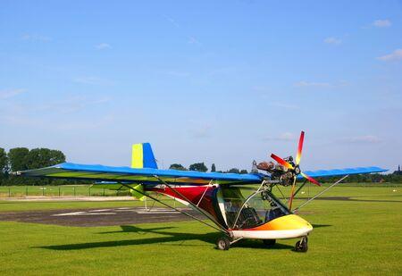 airplane ultralight: Small colorfull ultralight plane