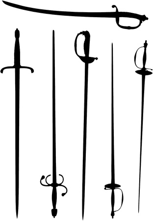 Silouette of several swords