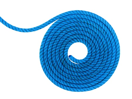 Spiral rope, isolated against background Stock Photo