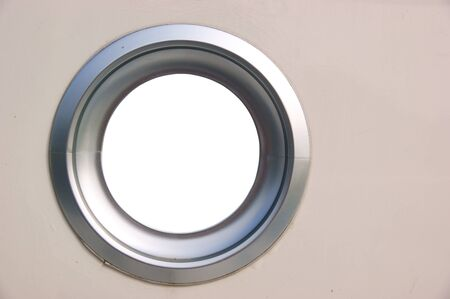 Porthole of a boat, view is removed for your creativity