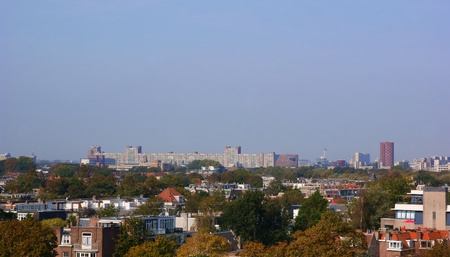Skyline of the hague in early autumn Stock Photo