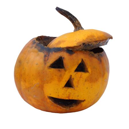 Old  rotten helloween pumpkin photo