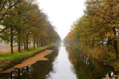 Small river in the netherlands in the autumn