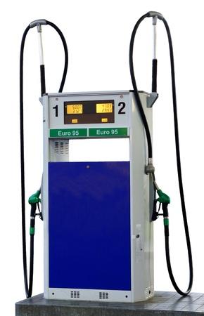 95: Euro 95 Tankstation benzina, isolato su sfondo