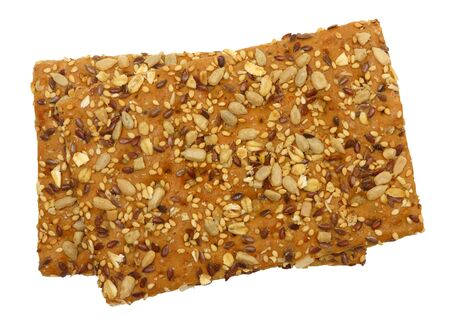 Healty cracker, isolated against background