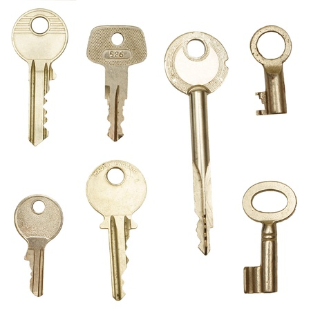 Several keys, isolated against background