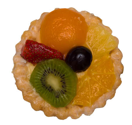 Small fruit pie, isolated on background Stock Photo - 12517398