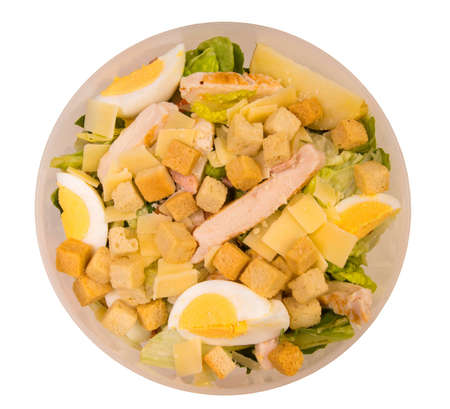 Lunch salad, isolated against background
