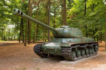 WW2 battle tank in public parc