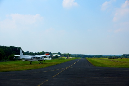 turboprop: Turboprop plane on small airfield in germany