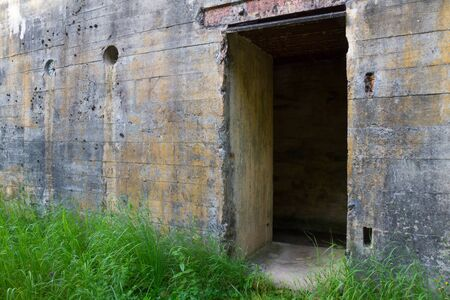 fortification: Door of WW2 concrete bunker fortification