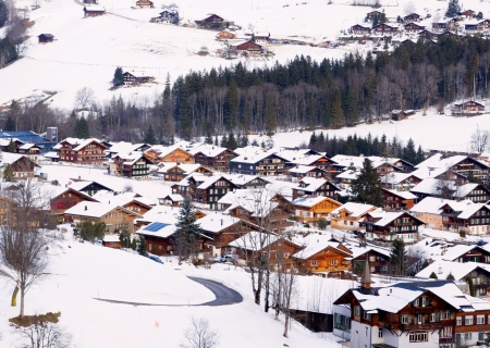 Village lenk in berner oberland, suisse photo