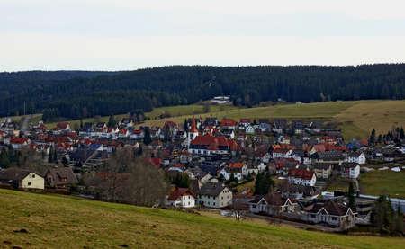 Village Schonach in germany district black-forest