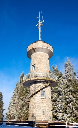 Tower in a snowy landscape