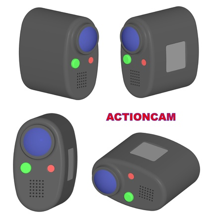 Render: series of an actioncam