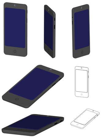 Render: 3D render of a smartphone