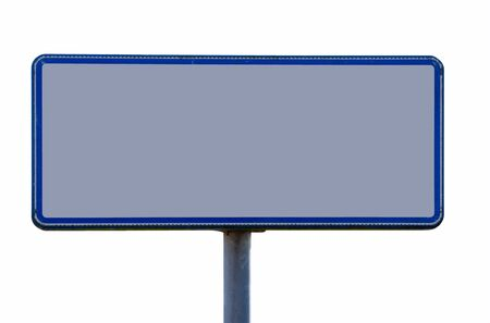 Empty sign, isolated against background