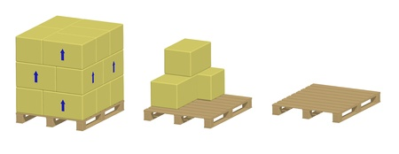 Render: Pallet with and without boxes photo