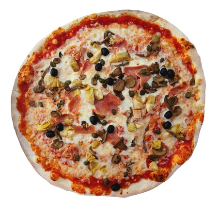 Pizza, isolated against background
