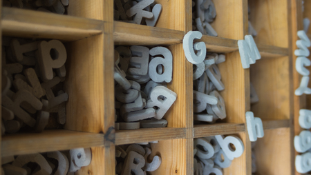 Stone alphabet for decorating home Stock Photo