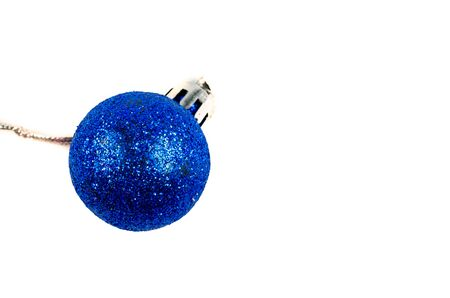 Blue Christmas ball on a white background Stock Photo