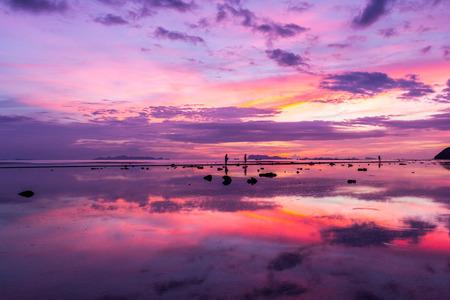 Sunset on the beach Stock Photo