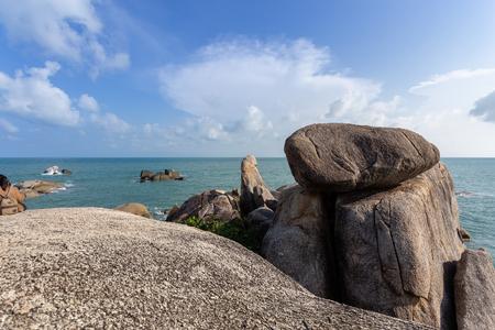 Hin Ta and Hin Yai Rocks ( grandmother and grandfather) in Koh Samui, Thailand